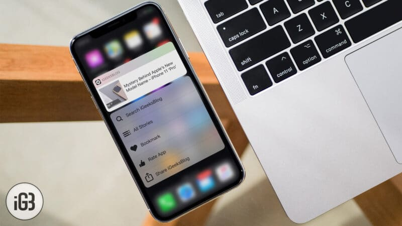 3D Touch Not Working on iPhone or iPad