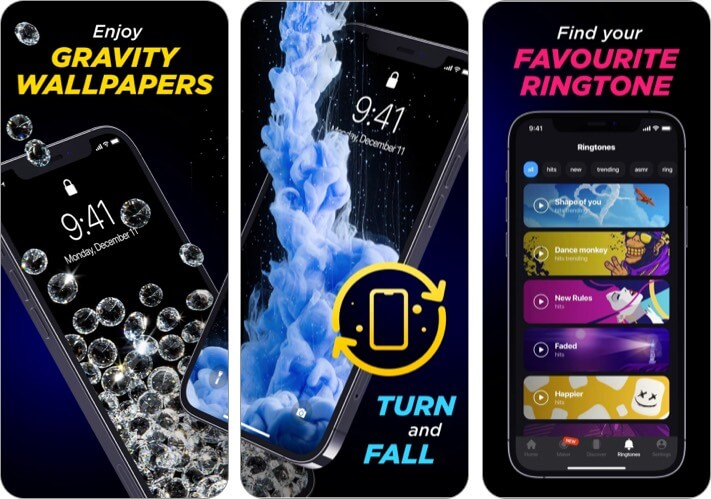 3d live Wallpapers & HD Themes app for iPhone