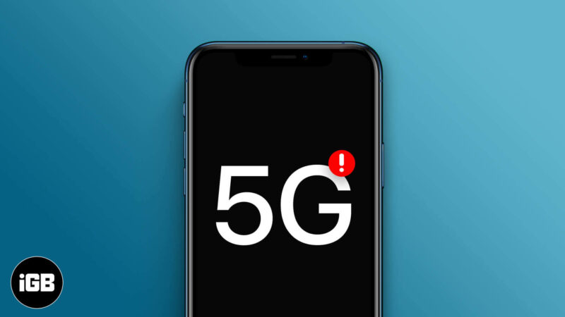 5G Not Working on iPhone 12