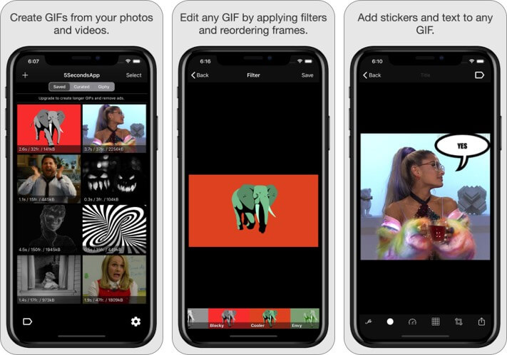 5Seconds App - Animated GIFs iPhone and iPad App Screenshot