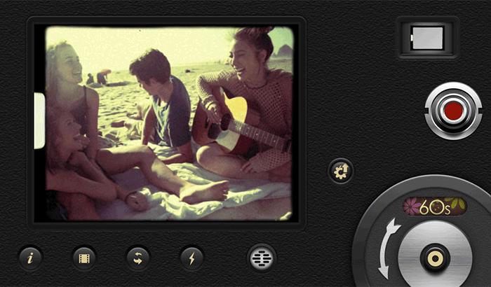 8mm Vintage Camera Movie Maker iPhone App Screenshot