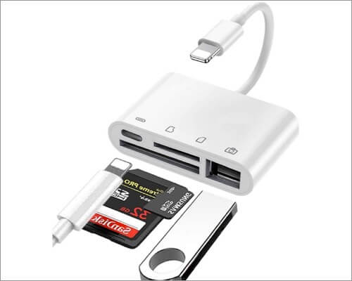 A-BST Lightning to SD Card Camera Reader for iPhone and iPad