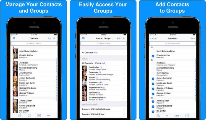 A2Z Contacts iPhone App Screenshot