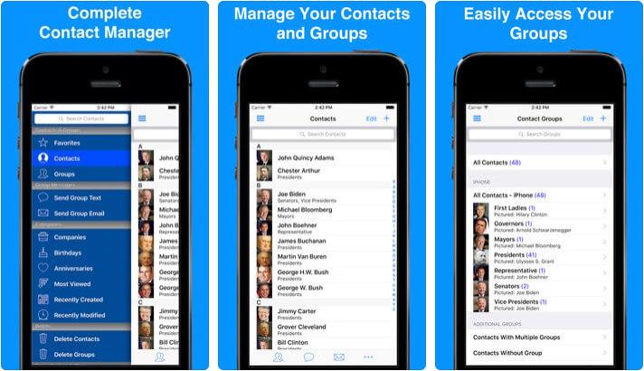 ABC Groups iPhone Contact Management App Screenshot