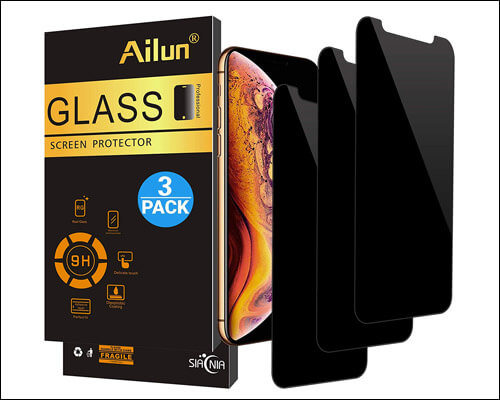 AILUN iPhone X, XS Privacy Tempered Glass Screen Protector