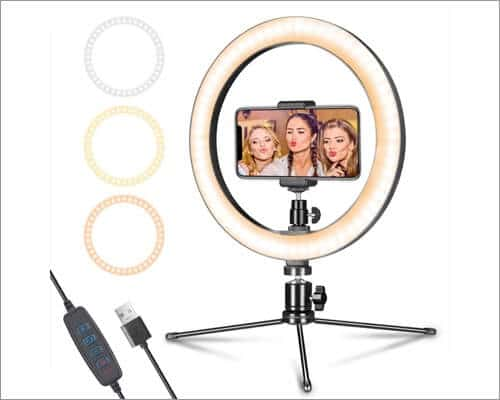 AIXPI Ring Light Tripod for iPhone
