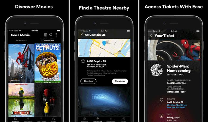 AMC iPhone App Screenshot