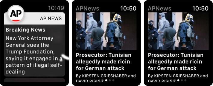 AP News Apple Watch News App Screenshot
