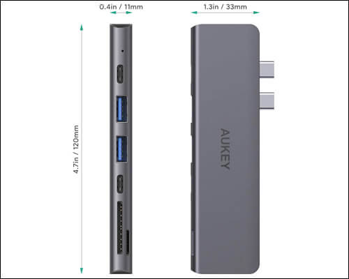 AUKEY USB C Hub Multiport Adapter for Macbook Pro