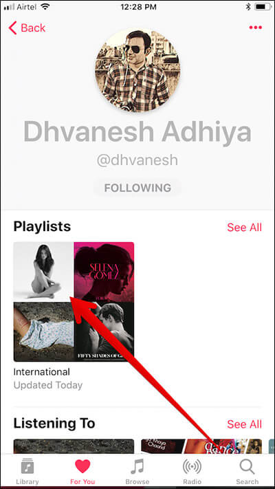 Access Friend's Playlist in Apple Music on iPhone