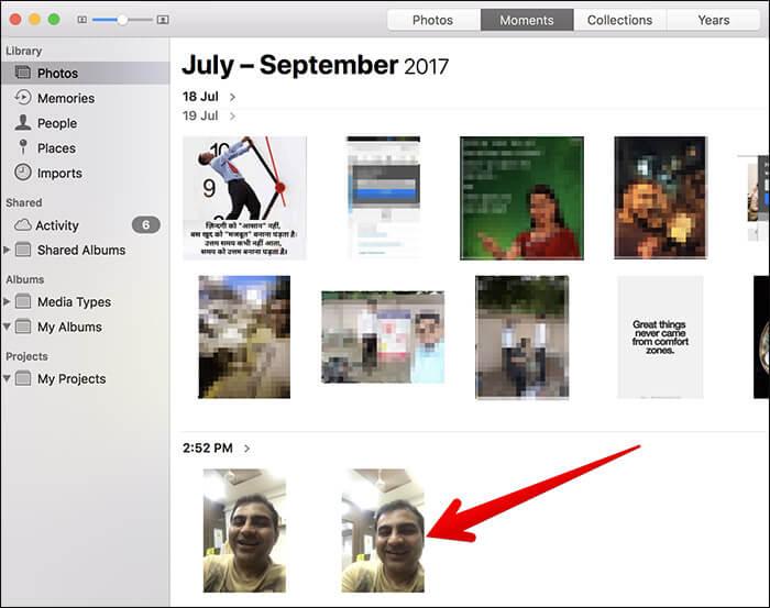 Access Live Photos on Mac