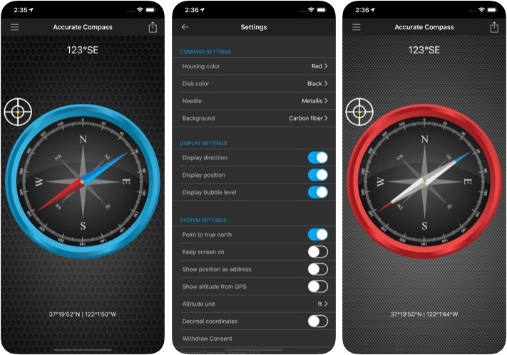 Accurate Compass Navigation App for iPhone and iPad