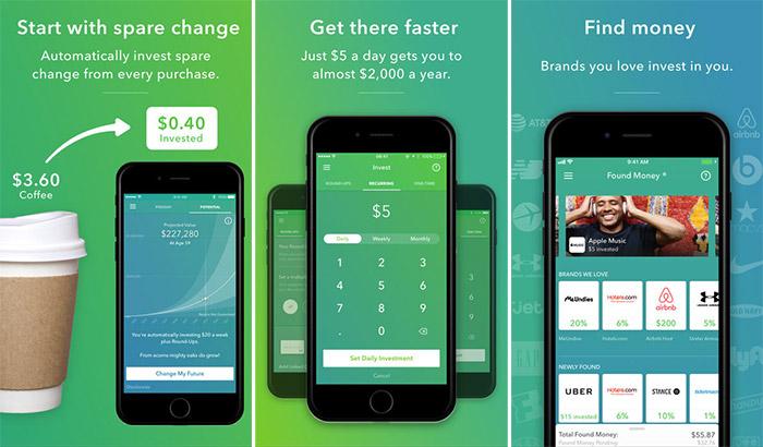 Acorns Personal Finance iPhone and iPad App Screenshot