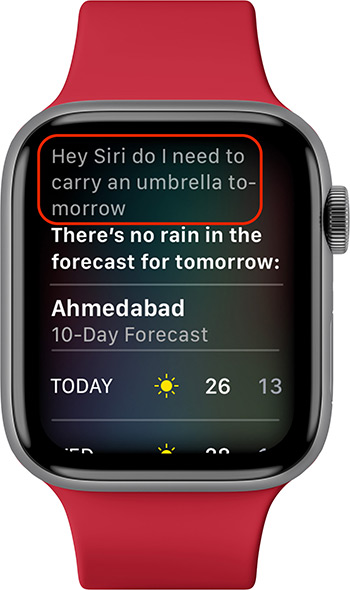 Activate Hey Siri on Apple Watch