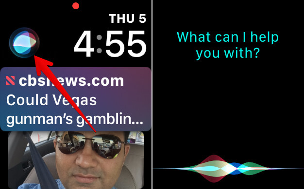 Activate Siri on Apple Watch using Complication