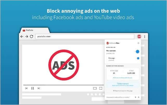 Adblock Plus Google Chrome extension