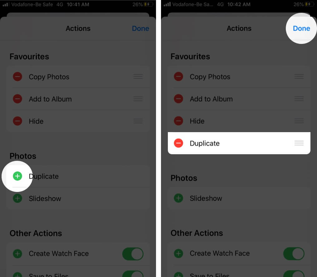 Add Action to Favorites in iOS 13 Action Sheet on iPhone