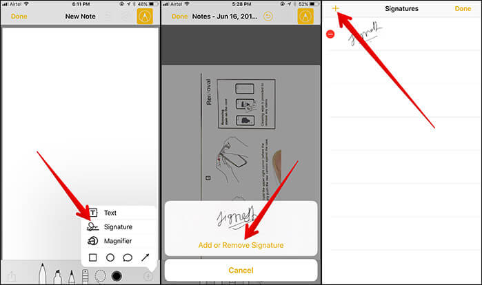 Add Another Signature to Notes App in iOS 11