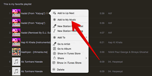 Add Apple Music Songs to iTunes Library on Mac and Windows PC