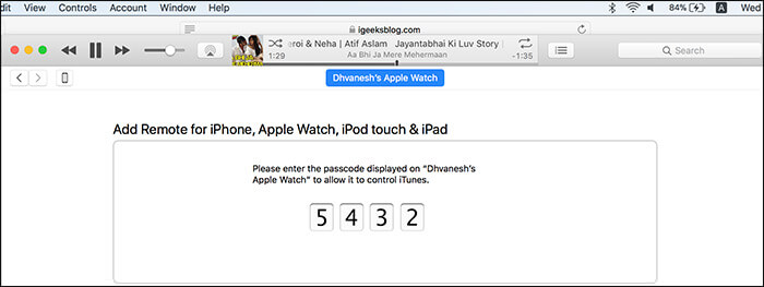 Add Apple Watch Remote to iTunes