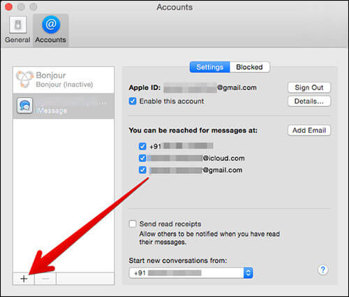 Add AppleID To Messages App on Mac