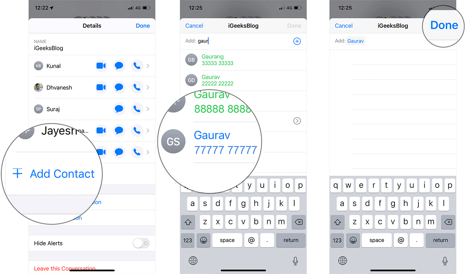 Add Contact to iMessage Group Chat on iPhone or iPad