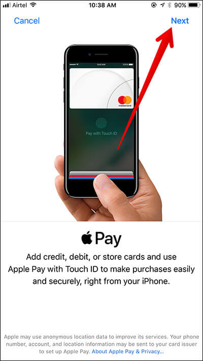 Add Credit or Debit Card to Apple Pay on iPhone