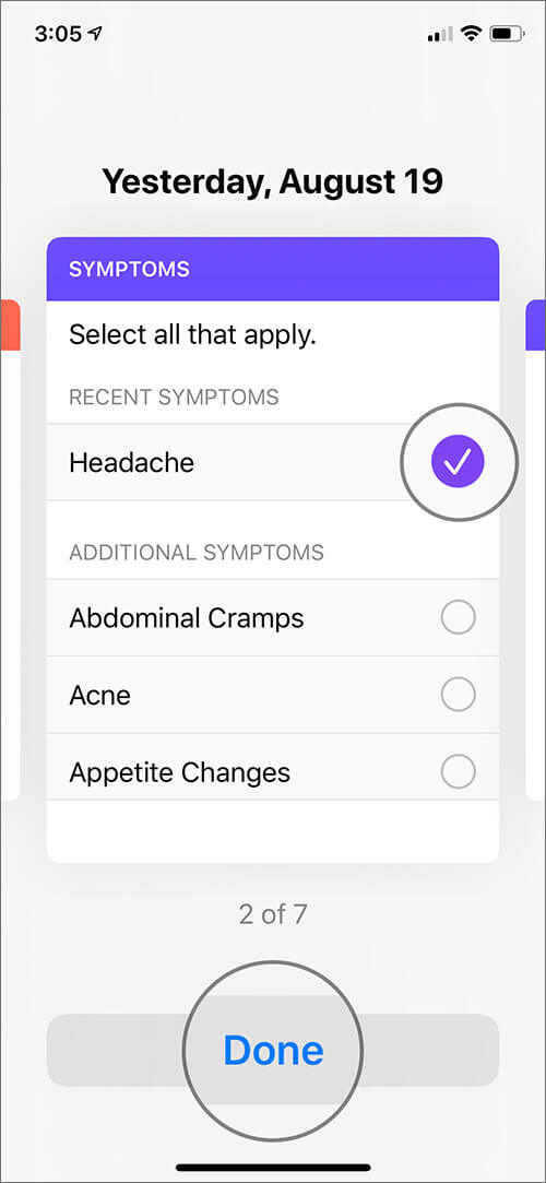 Add Cycle Symptoms to Cycle Tracking in Health App in iOS 13