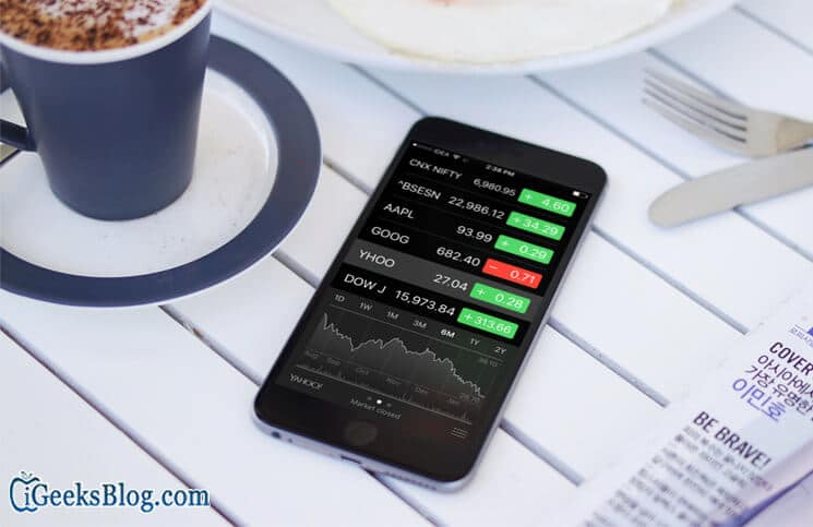 Add, Delete and Rearrange Stocks Shown in Notification Center on iPhone
