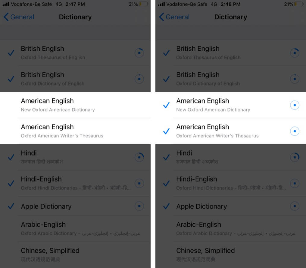 Add Dictionaries to your iPhone