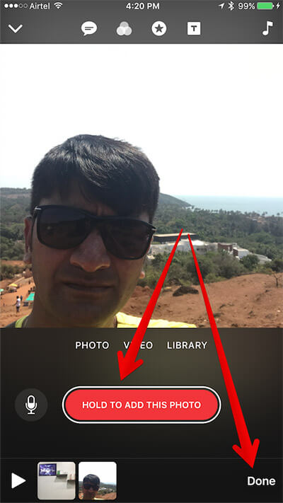 Add Existing Photo to Clips App on iPhone