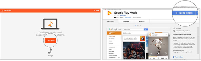 Add Google Plus Music extension to Chrome browser
