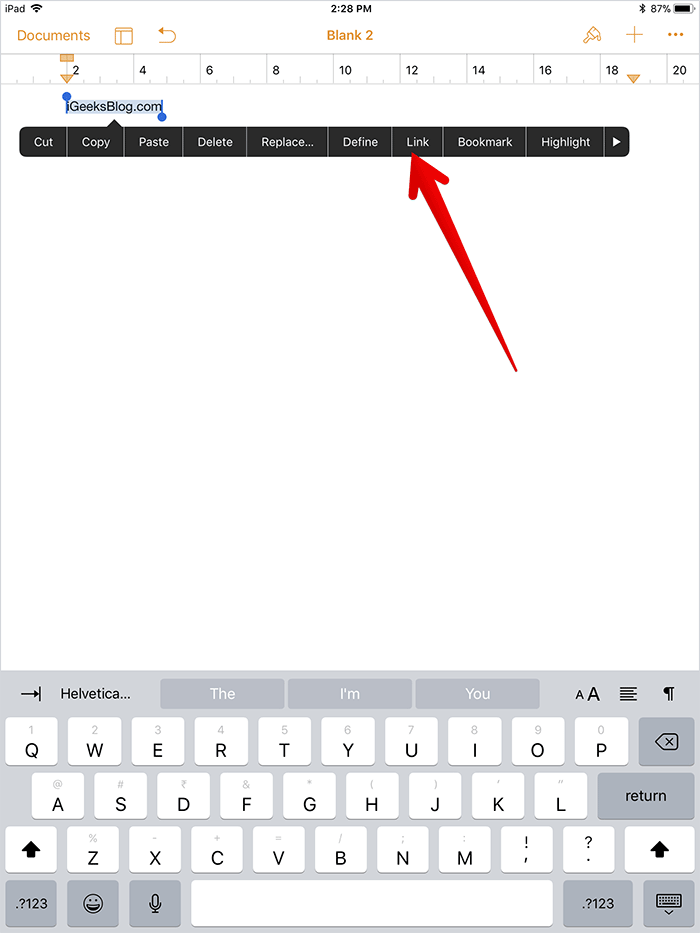 Add Links in Email Signatures on iPad