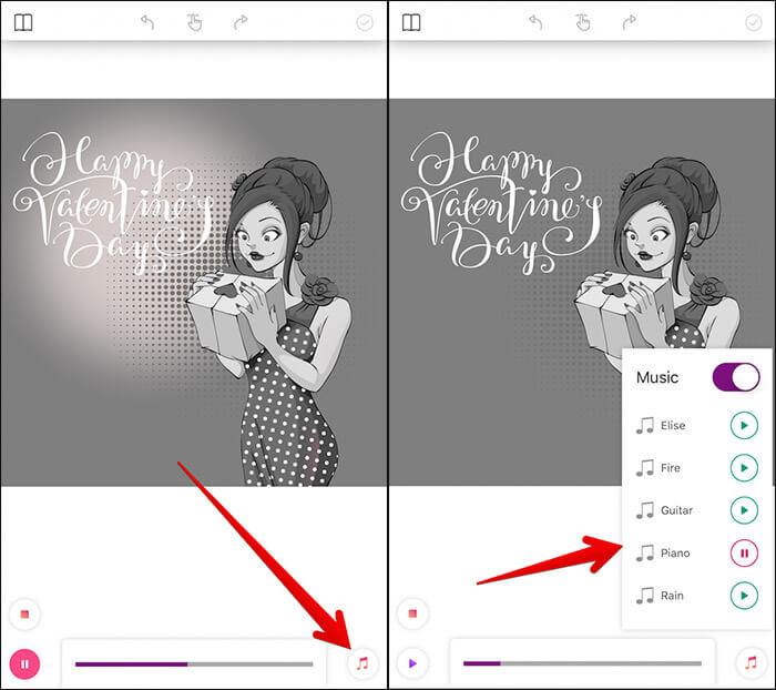 Add Music to Artwork in ColorGram iPhone App