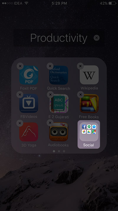 Add Nested Folders in iOS 9 on iPhone and iPad