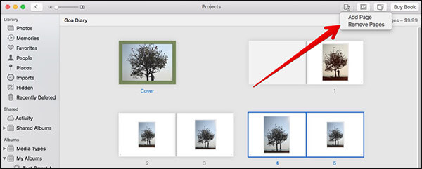 Add-Remove Pages in Photo Book on Mac
