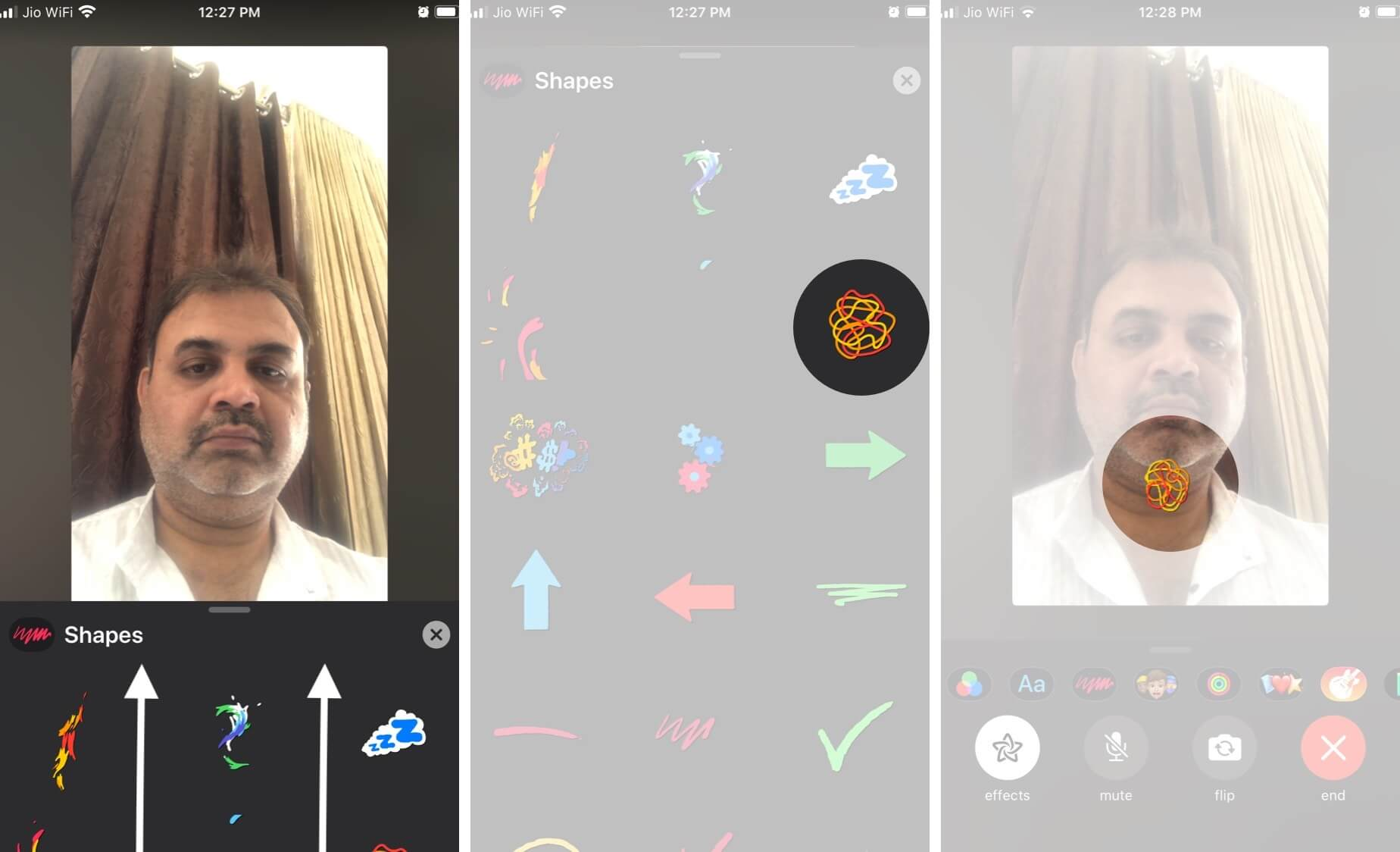 Add Shapes To FaceTime Video Calls