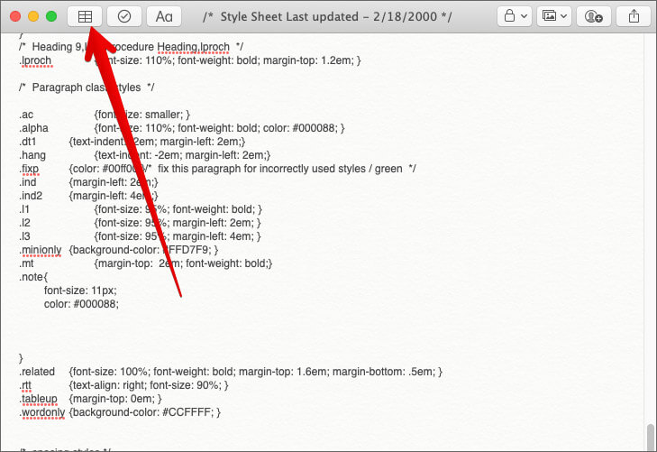 Add Tables in Notes App on Mac