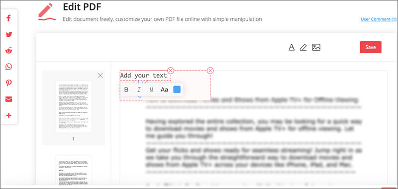 Add Text in PDF with EasePDF Converter