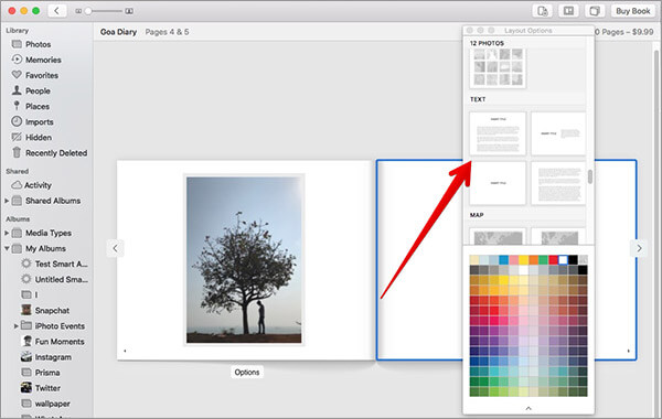 Add Text in Photos for Photo Book on Mac