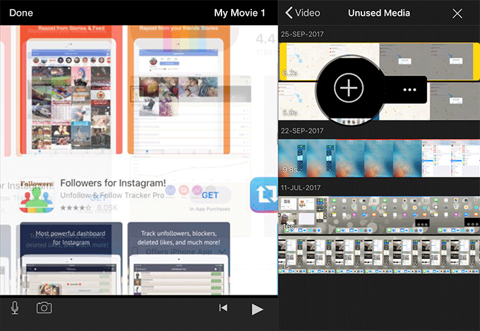 Add Video Clip to iMovie on iPad