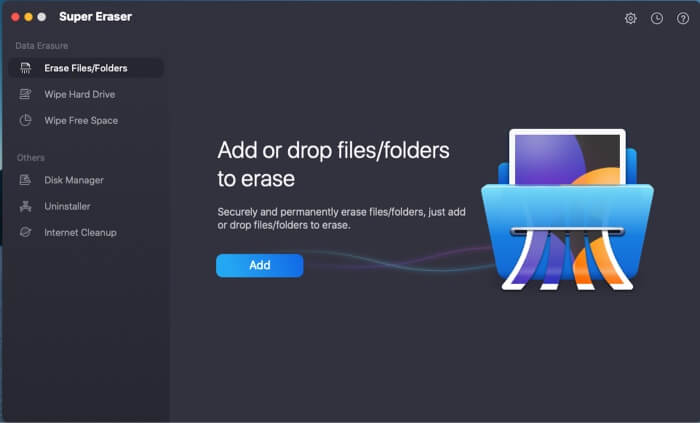 Add and select files using DoYourData