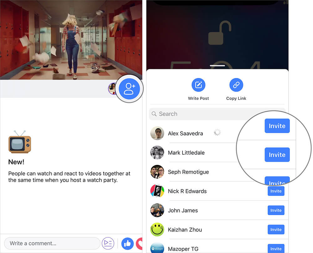 Add friends to your watch party in Facebook Group