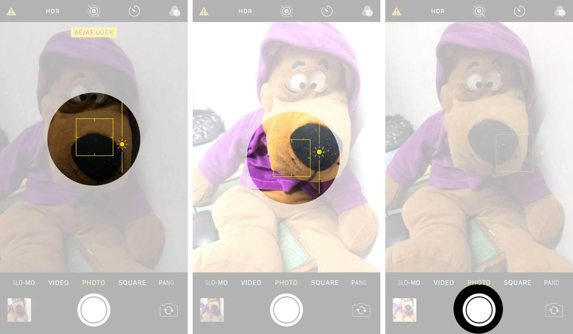 Adjust Exposure in iPhone Camera App