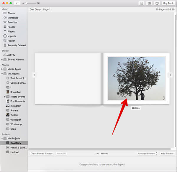 Adjust Photo for Photo Book on Mac