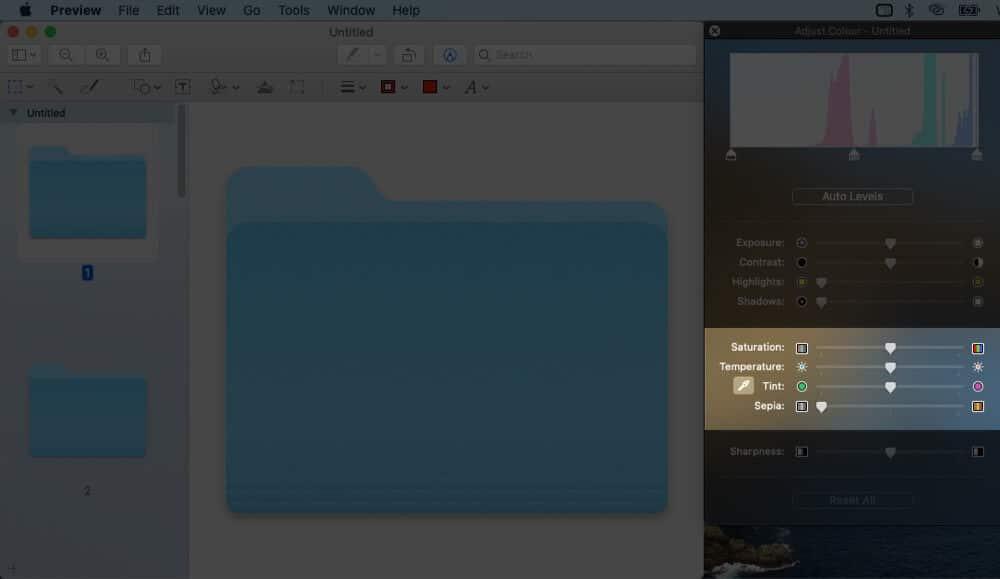 Adjust Slider to Change Folder Color
