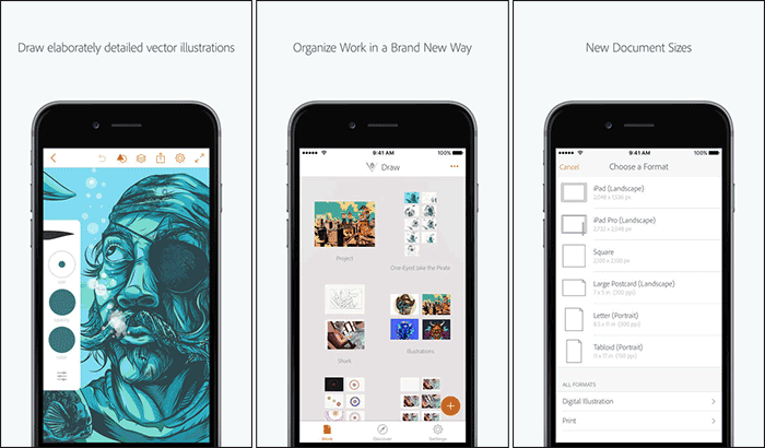 Adobe Illustrator Draw iPhone App Screenshot