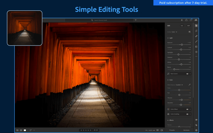 Adobe Lightroom Photo Editing App for Mac Screenshot