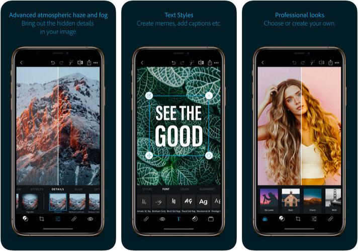 Adobe Photoshop Express Instagram Collage iPhone App Screenshot