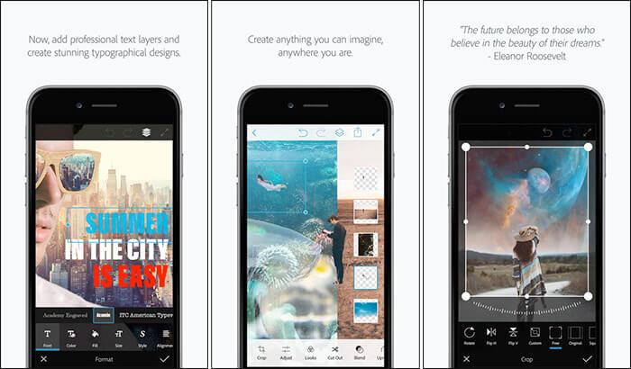Adobe Photoshop Mix iPhone and iPad App Screenshot
